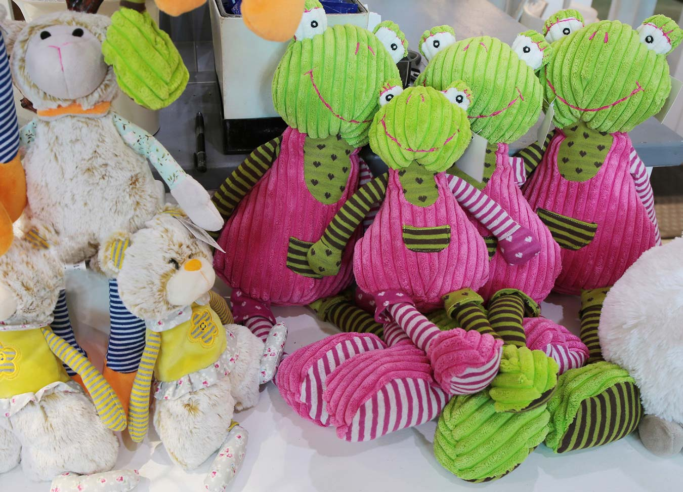 stuffies at bloomers at the market