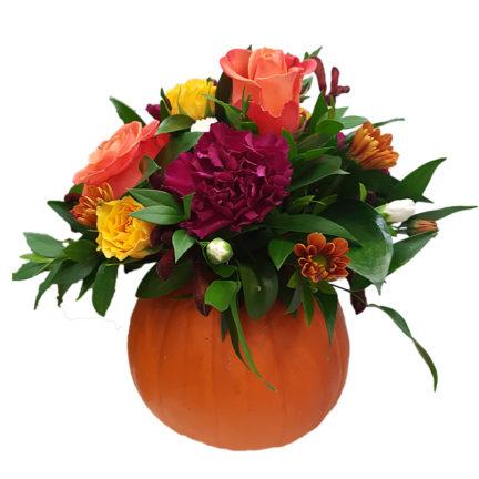 Small Pumpkin Floral Arrangement