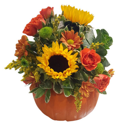Large Pumpkin Floral Arrangement